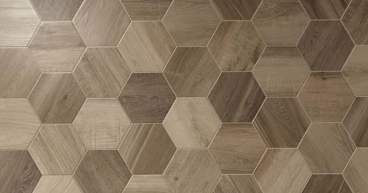 King Wood Nut Hexagon Simply Tiles