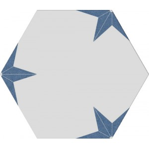 Stella azul hexagon