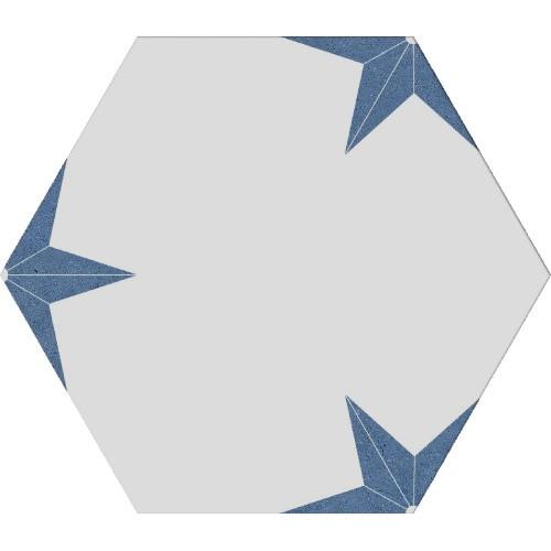 Stella azul hexagon