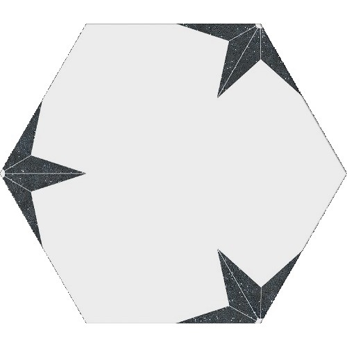 Stella nero hexagon