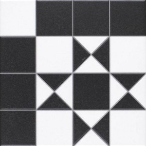 Bristol black & White pattern  25 x 25cm
