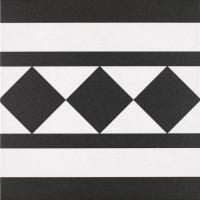 Oxford black & white border