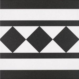 Oxford black & white border  25 x 25cm