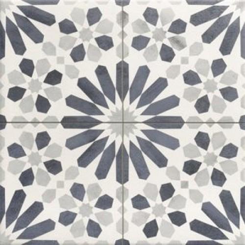 Maroc blue continuous scored pattern