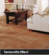 Terracotta effect
