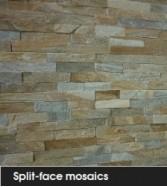 Split-face mosaics