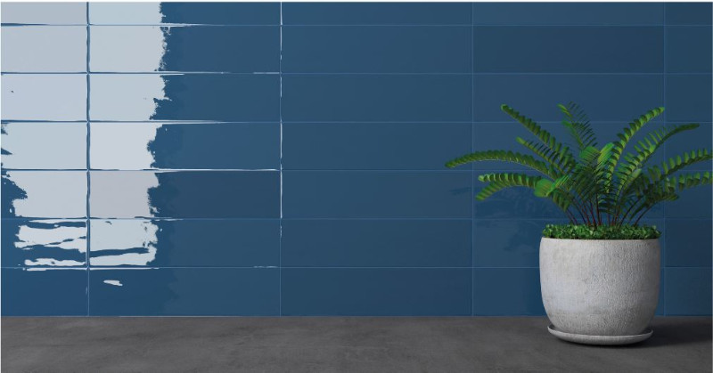 Gradient Indigo Gloss Simply Tiles